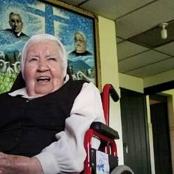 Madre Lucita, a 87 años, en la Casa Divnia Providencia(©Roberto Valencia)
