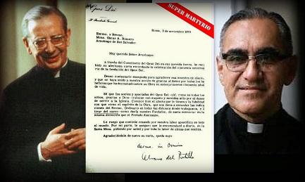 Del Portillo, la carta escrita por él, mons. Romero