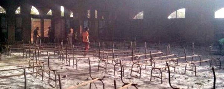 Una de les esglésies cremades al Níger aquest gener