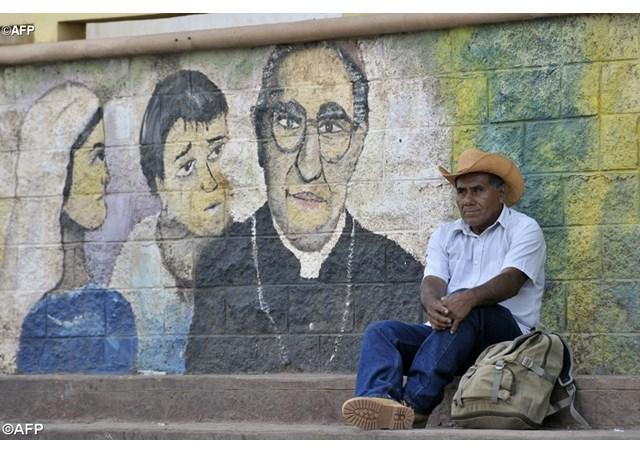 Un mural en Ciudad Barrios - AFP